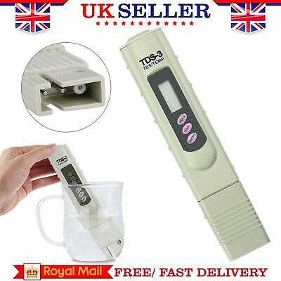 Digital TDS 3 Water Quality Tester Purity Meter TEMP PPM Test Filter Pen Sticks