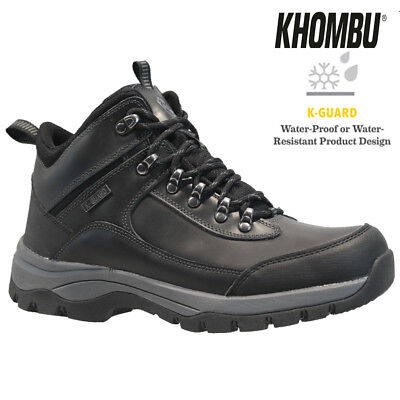 Mens Leather Walking Hiking Waterproof Ankle Memory Foam Boots Trainers Shoes