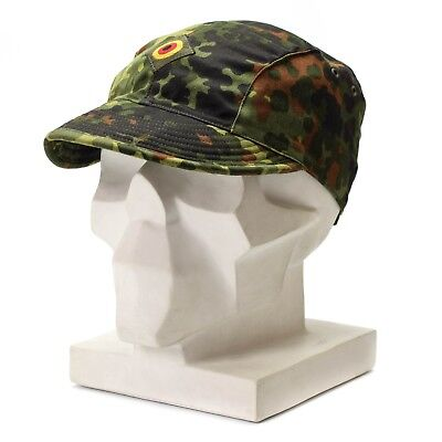 Genuine Original German army air force cap flecktarn camo peak hat military NEW