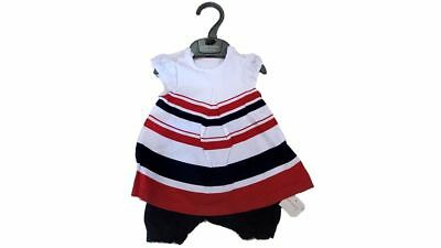 Baby Girls Stripe Summer Dress Romper Mothercare Navy, Red, White Party Outfit