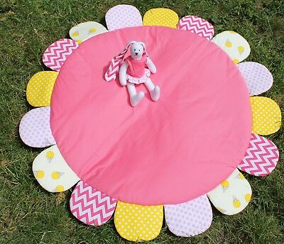 Carpet Baby Play Mat Newborns Rug Room decor Handmade Soft Toys Blanket Pink