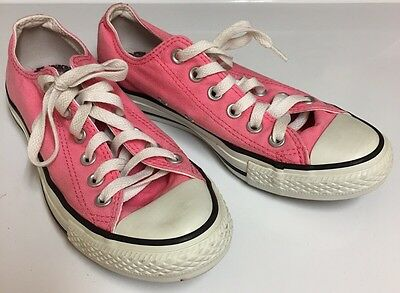 CONVERSE All Star Low Top Pink Canvas Shoes Womens Size 7