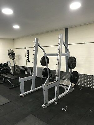 Commercial gym equiptment squat rack used