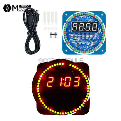 DS1302 5V Rotating LED Electronic Digital Clock 51 Learning Board DIY/Assembled