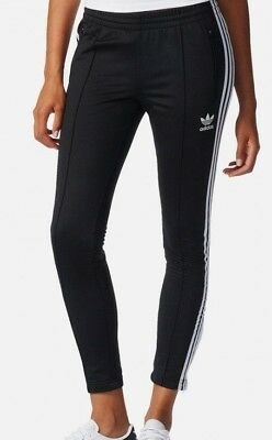 meet c7d4f 29f5a Adidas Originals Women s SUPERSTAR TRACK PANTS Black BK0004 b Size XS