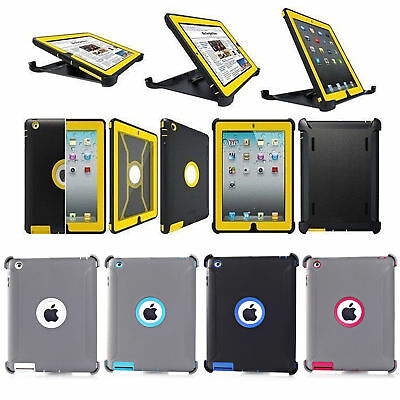 Defender Series Protection Case For iPad 2/3/4 (Shield Stand Fits for Otterbox)