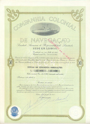 Lot 8 Stück Portugal Companhia Colonial de Navegacao Obligation 1954 Shipping