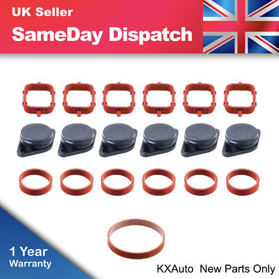 6x 33mm Swirl Flap Blank Bungs & Manifold Gaskets For BMW M57 E38 E46 320 520