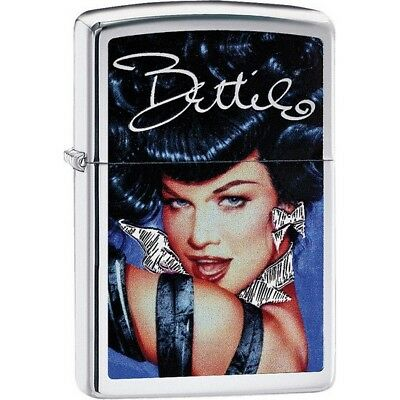 Zippo 29584 High Polish Chrome Classic Bettie Page Windproof Lighter