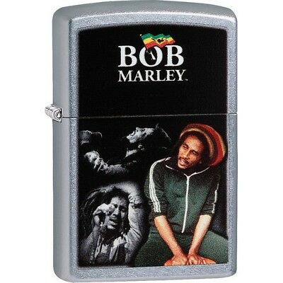 Zippo 29572 Street Chrome Classic Bob Marley Windproof Lighter
