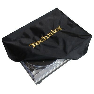 Technics Turntable Cover - Protect Your Deck (black/gold) Official Merchandise