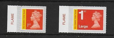 1 GB Stamps 2017 1st Recorded Delivery Signed For Flame Tab Set M17L.  Mint NH.