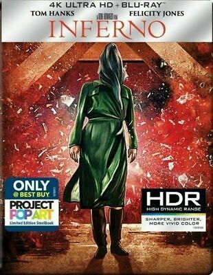 Inferno 4K - Limited Edition Steelbook [4K Ultra HD + Blu-ray] New and Sealed!!