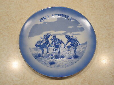 Vintage Souvenir Collector Oklahoma State Plate 8 inch