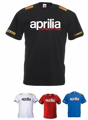 Maglietta T-Shirt Aprilia Racing Rsv4 # Be A Racer Factory Racing