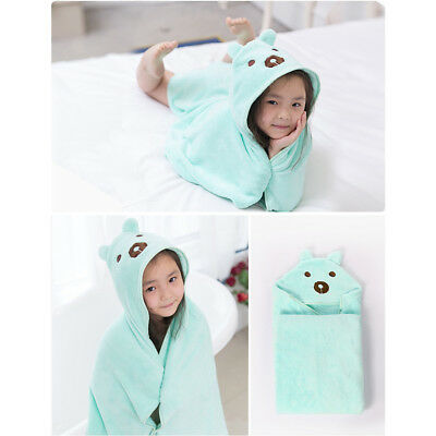 Various Cute Animal Baby Kid's Hooded Bathrobe Toddler Boy Girls Bath Towel