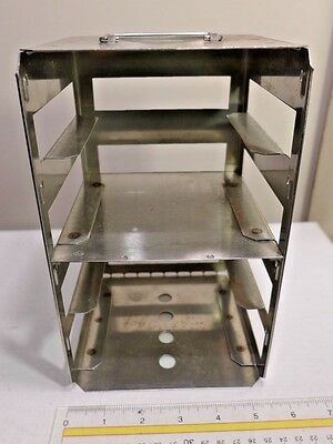 """THERMO SCIENTIFIC REVCO Stainless Steel SS 4-Position 2"""" Box Freezer Rack"""