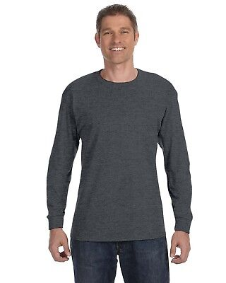 Hanes Men's 6.1 oz. Tagless Long-Sleeve T-Shirt 5586 S-3XL