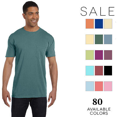 Comfort Colors Men's 6.1 oz. Garment-Dyed Pocket T-Shirt 6030CC S-3XL