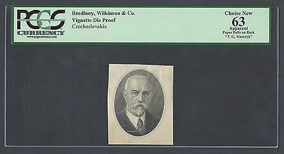 Czechoslovakia Vignette Die Proof Tomás Garrigue Masaryk Used 100 Korum  1945