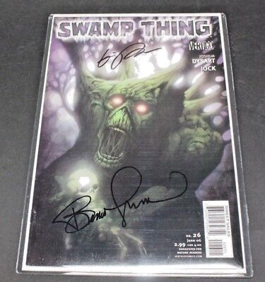 Swamp Thing #26 Comic Book Signed By Bernie Wrightson Eric Powell And Coa