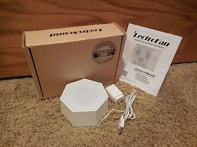 LectroFan Fan Sound and White Noise Machine Color Global White model ASM-1007-G
