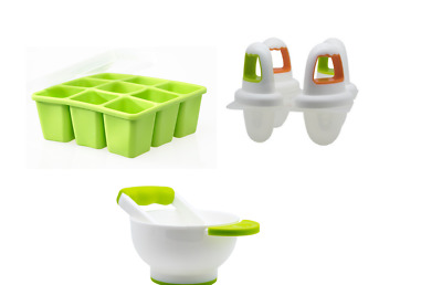 Annabel Karmel by NUK Food Cube Tray Baby Weaning Food Freeze Ice Lolly Moulds