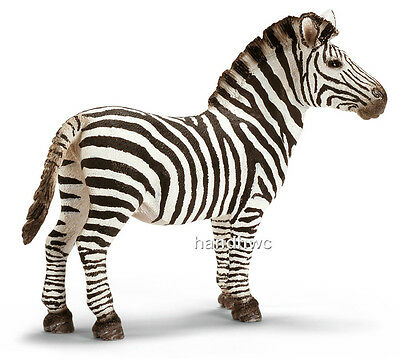 Schleich 14391 Zebra Male Wild Animal Model Stallion Toy Figurine - NIP