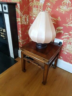 Asian Chinese antique lamp side table