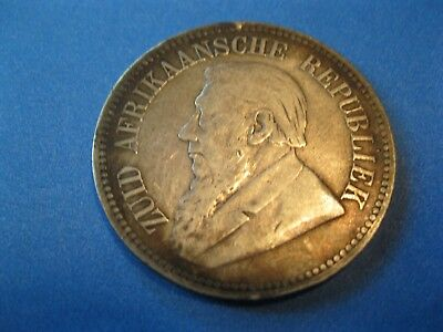 1894 South Africa, 2 1/2 Shillings..........Rim Holes...............Silver Coin