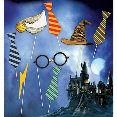 Harry Potter Photo Booth Props Birthday Party Supplies 8 Piece New