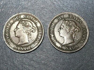 Lot of 2 - 1888 Canada Queen Victoria Large Cents