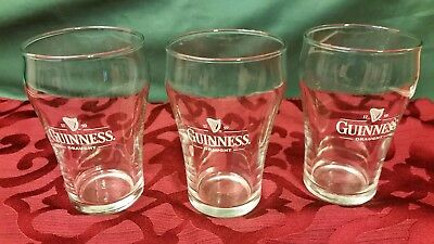 Set Three (3)Guinness Draught Drinking Glass