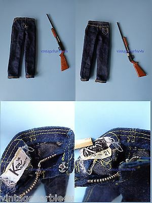 Vintage Barbie Ken Doll #1409 Goin' Huntin' Rifle & Jeans PIT Tagged NM