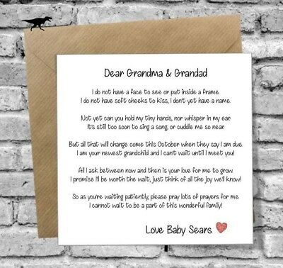 Pregnancy Baby Announcement Card Surprise Grandparents Big Brother Sister Auntie
