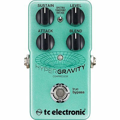 TC Electronic HyperGravity Compressor True Bypass TonePrint Guitar Effect Pedal