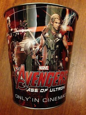 Marvel Avengers Age of Ultron Tin Popcorn Bucket 130oz/3.8 Large Size