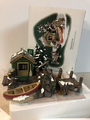 Dept 56 The Dockhouse 52863 Village Accessories Boat Canoe Dock 2pc New