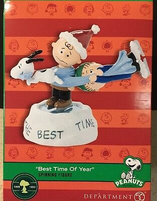 Dept 56 Peanuts Best Time of Year Snoopy NEW Charlie Brown Linus Spinning Figure