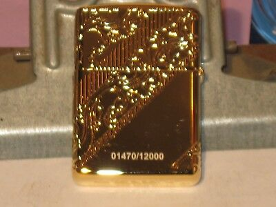NEW ZIPPO USA Windproof Lighter 29653 2018 Collectible of Year Golden Scroll