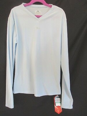 Womens Under Armour Heatgear Base Layer Light Blue Long Sleeve L New With Tags