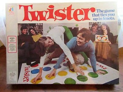 Vintage John Sands Twister – The Game That Ties You Up In Knots – Milton Bradley