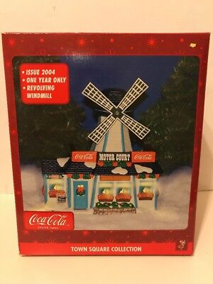 Coca Cola Town Square Collection 2004 Motor Court Windmill Village Set