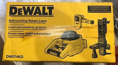 New DEWALT DW074KD Rotary Laser Kit with Laser Detector