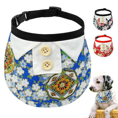 Bandana Dog Collar Soft Neck Scar Neckerchief Adjustable for Small Pet Puppy Cat