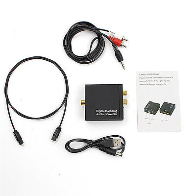 3.5mm Digital Coaxial Toslink Optical to Analog L/R RCA Audio Converter AdapterA