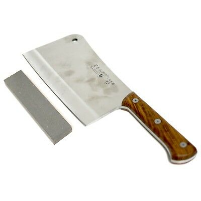 BANILI Chopper Knife Meat Cleaver 1.165kg 22cm S/S Blade W Comb Sharpening Stone
