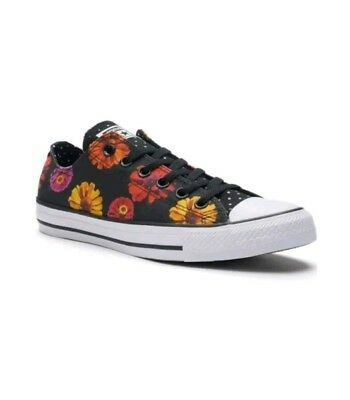 New Converse Canvas Low Top Chuck Taylor Floral Polka Dot Womens 10 Mens 8 Shoes