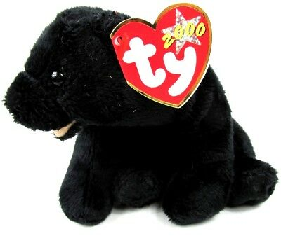 Ty Beanie Babies - Cinders the Black Bear NEW WITH TAGS 2000 FREE US SHIPPING