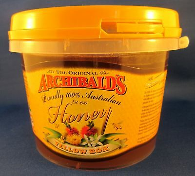 Australian pure honey, Yellow Box, 1kilo tub, Archibalds, free shipping